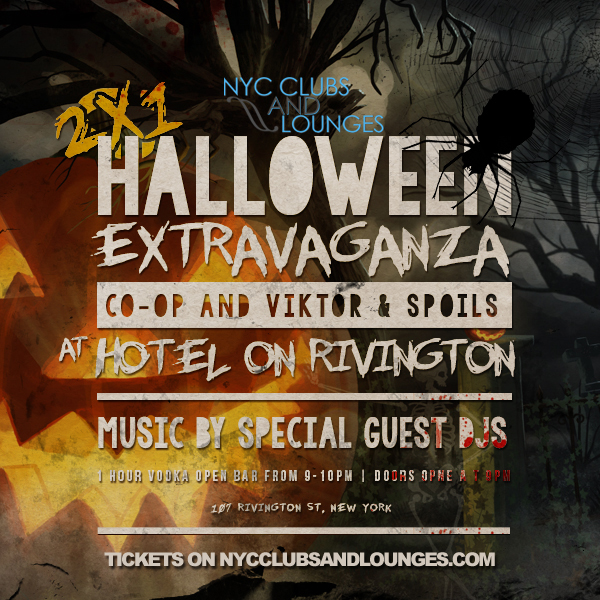 Halloween Party at Hotel Rivington, Co-op and Viktor & Spoils ...