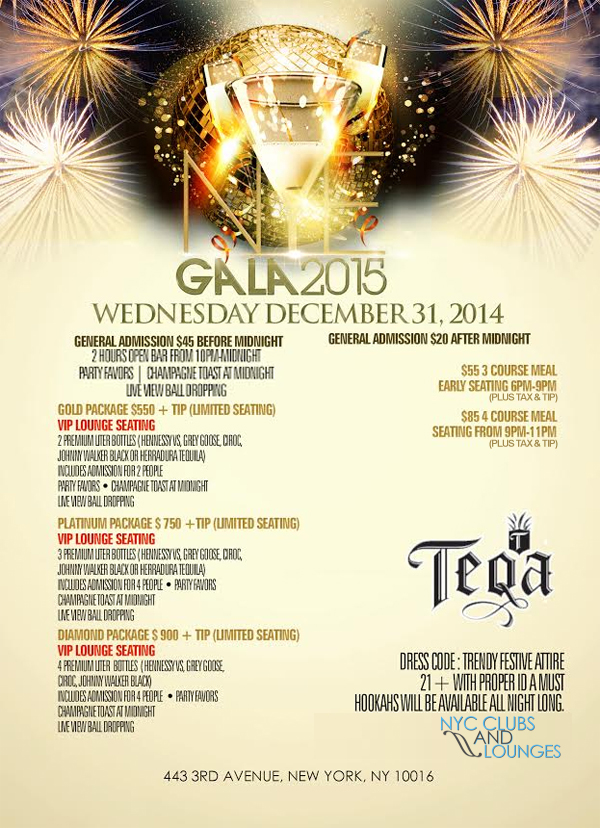 Teqa New Years party