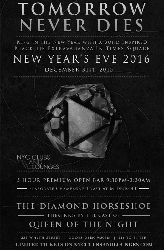 Diamond Horseshoe NYC NYE