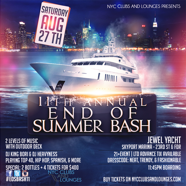 End of Summer Boat Party