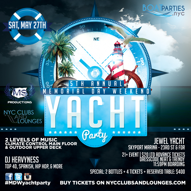 Memorial Day Weekend Boat Party