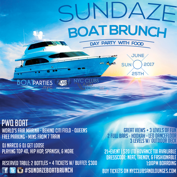 Sundaze Boat Brunch Day Party