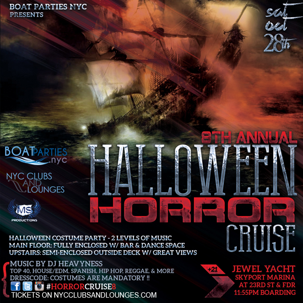 Halloween Horror Cruise, Boat Party - NYC Clubs and Lounges